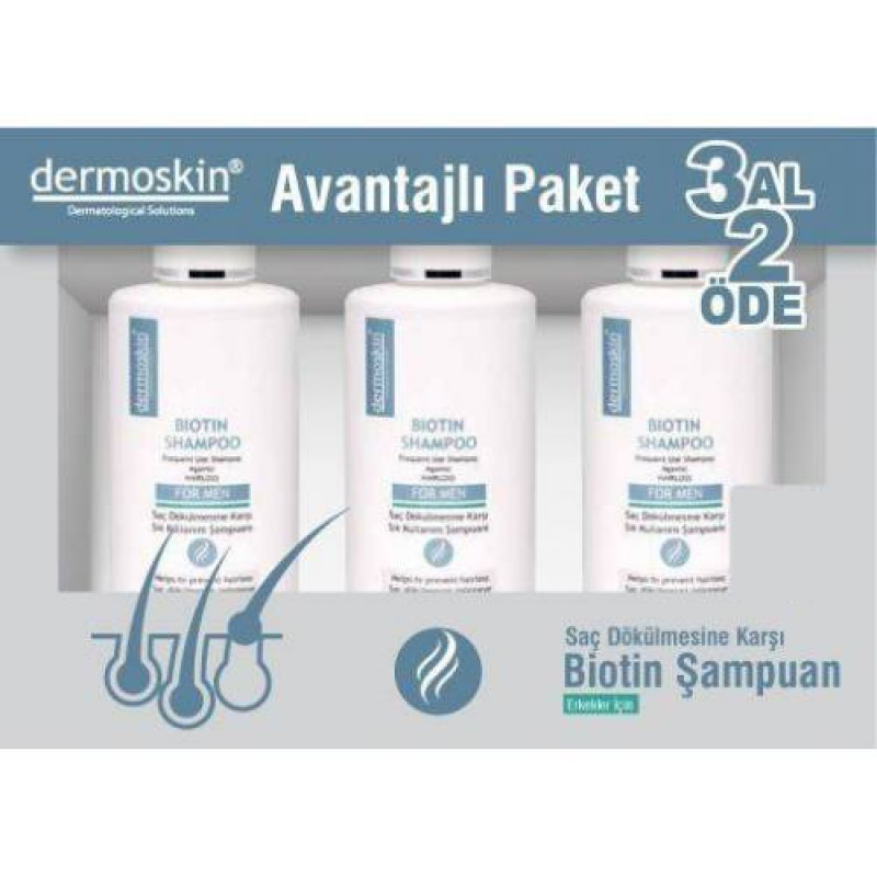 Dermoskin Biotin Şampuan For Men 200 Ml 3 Al 2 Öde